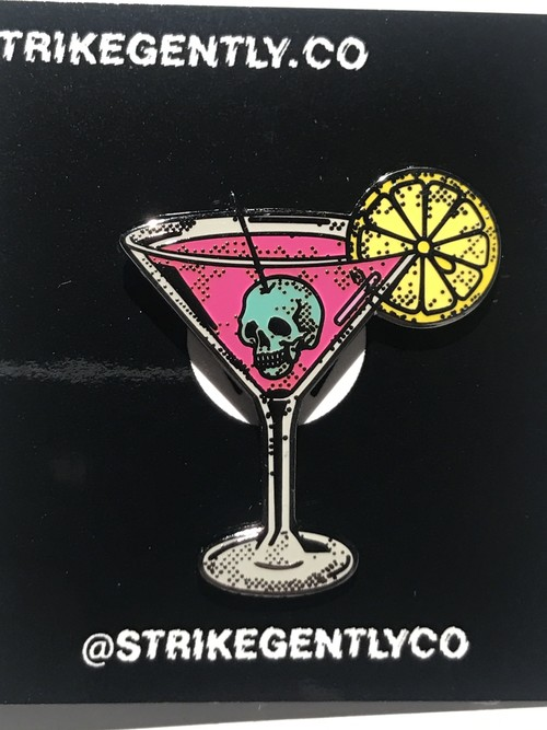 "STRIKEGENTLY.CO""Martini Pin"""