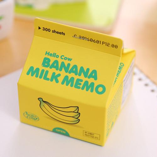 紙パックメモ・バナナオレ