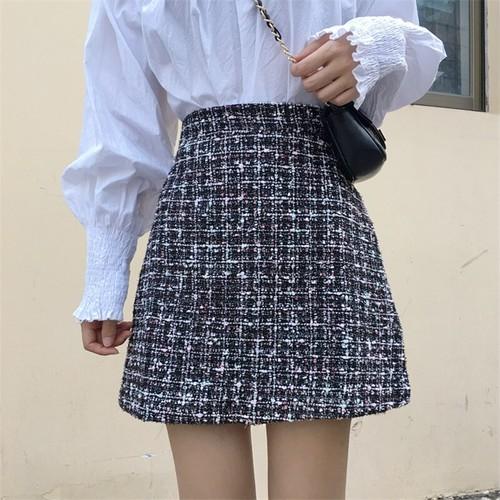 【即納】台形ツイードスカート