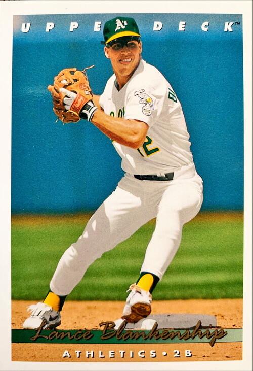 MLBカード 93UPPERDECK Lance Blankenship #108 ATHLETICS