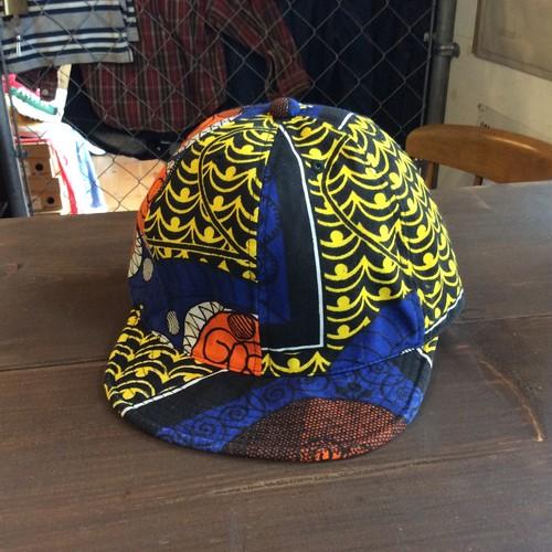 """HIGHER(ハイヤー) HT19002 """"AFRICAN BATIK KITENGE CAP"""" キャップ 日本製 FOUR CREST"""
