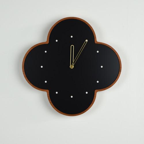 マホガニーの壁掛け時計 大 黒 φ300mm