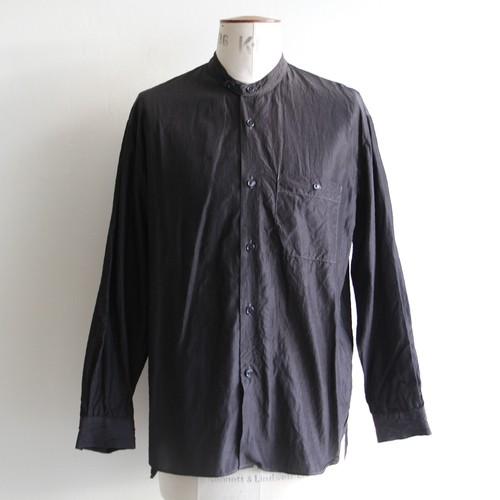STILL BY HAND【mens】cupro cotton band collar shirts