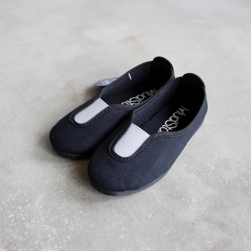 《LA CADENA》Mudstompers panel slip on / negro(black × light grey) / 14.5-19cm