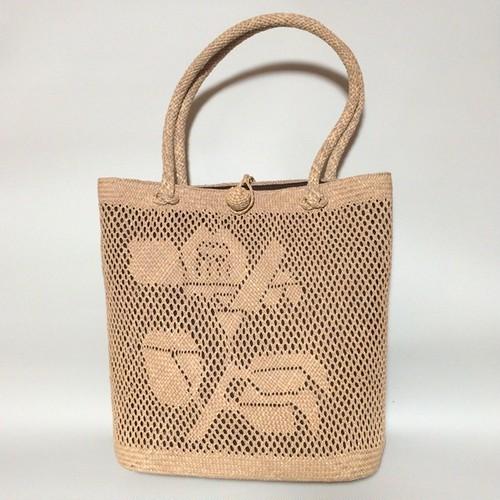 藺草編みトートバッグ 花