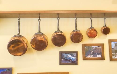 Lots de 6 casseroles en cuivre銅なべ 6個セット