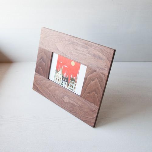 フォトフレーム(thin)ポストカード | ウォールナット No1