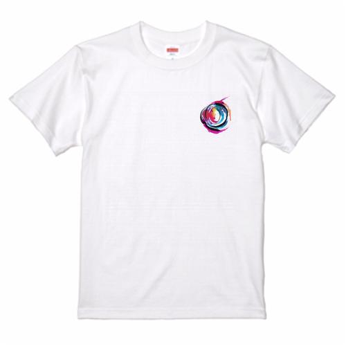 Abstract Water Color Brush Art Tee T-Shirt ワンポイント コンテンポラリー アート Tシャツ