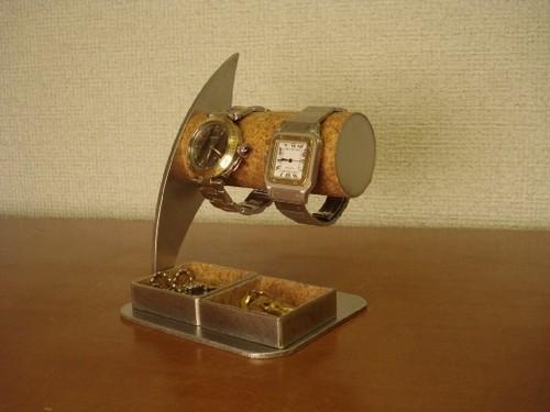 ダブルトレイ付き腕時計スタンド No.81024