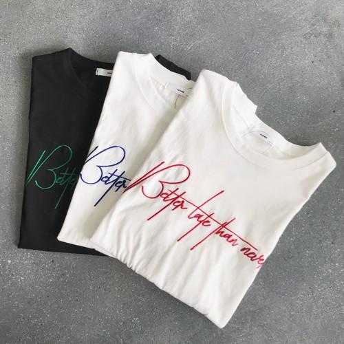 【SALE】刺繍ロゴTシャツ【&mode】