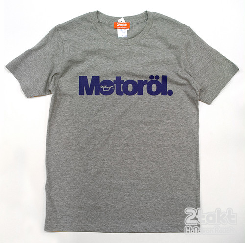 2takt T-shirt/Motoröl/Heather Grey
