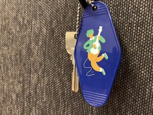 Motel key holder(Blue)