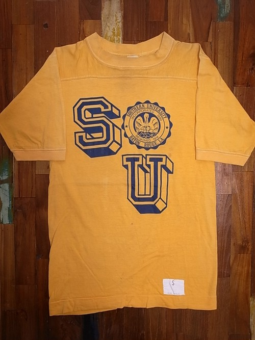 80'S COLLEGE PRINT FOOTBALL T-SHIRTS