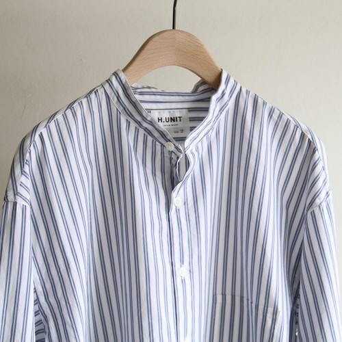 H.UNIT【 mens 】typewriter stripe shirts
