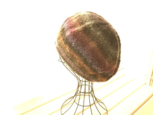 やわらか変わり糸のベレー帽