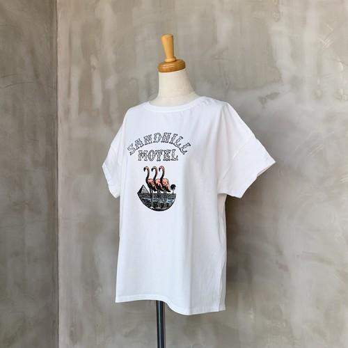 FIL DE FER/フラミンゴプリントTシャツ