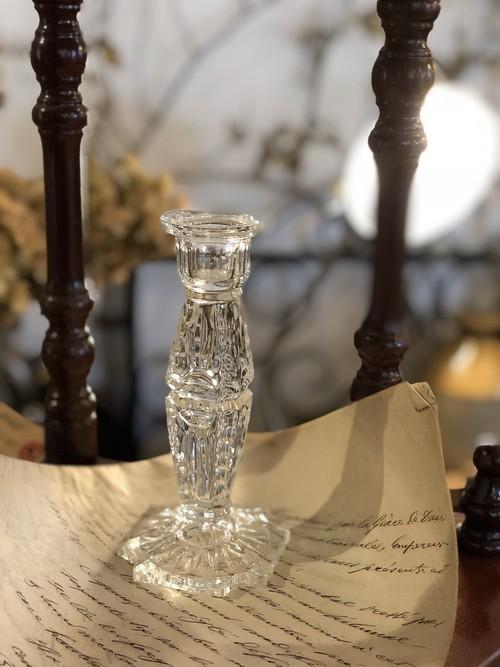 ブロカント ガラスのキャンドルスタンド