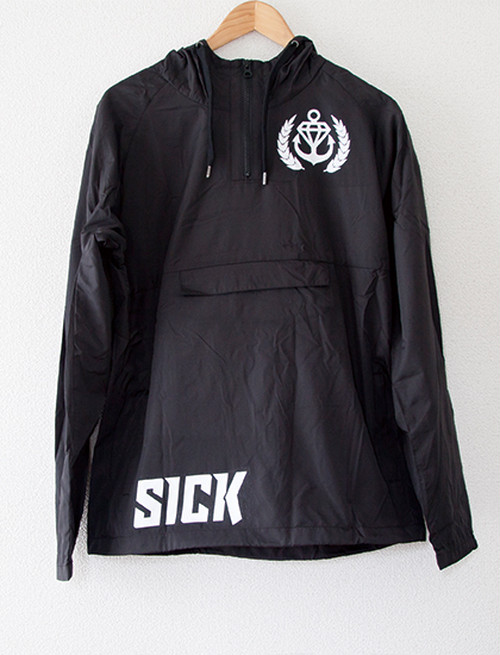 【STAY SICK CLOTHING】Sick Sport Windbreaker (Black)