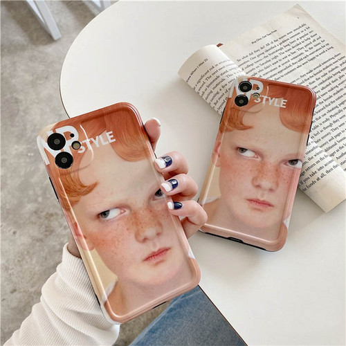 Angry boy iphone case