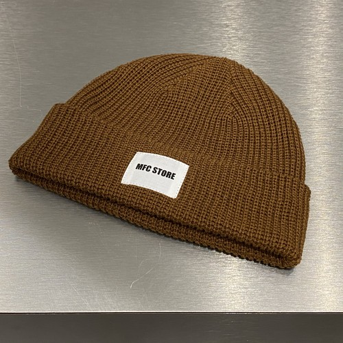 MFC STORE WHITE TAG LOGO LOW WATCH CAP / CAMEL