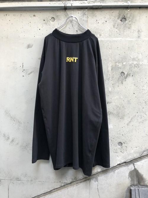 【RICE NINE TEN】HIGH NECK 3D RNT L/S TEE『black』