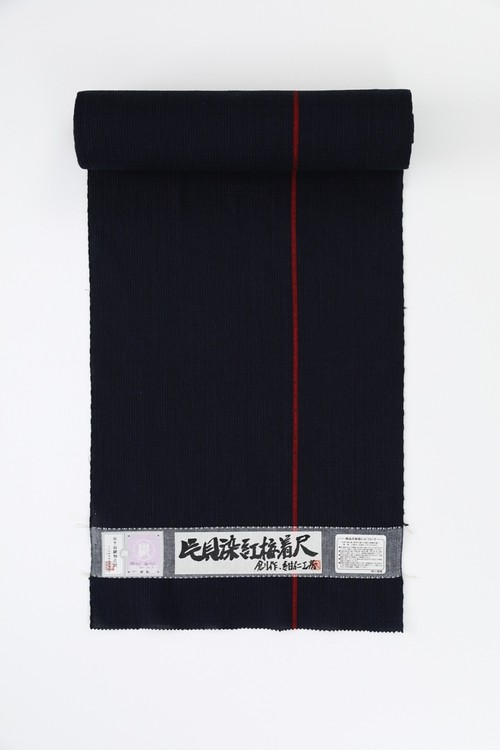 きもの / 片貝染紅梅 / One line / Navy×Red(With tailoring)