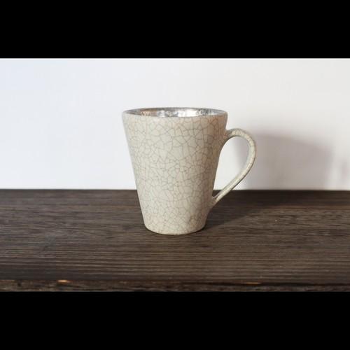 銀彩の美しき器 陶芸作家【谷井直人】白×銀彩 マグカップ
