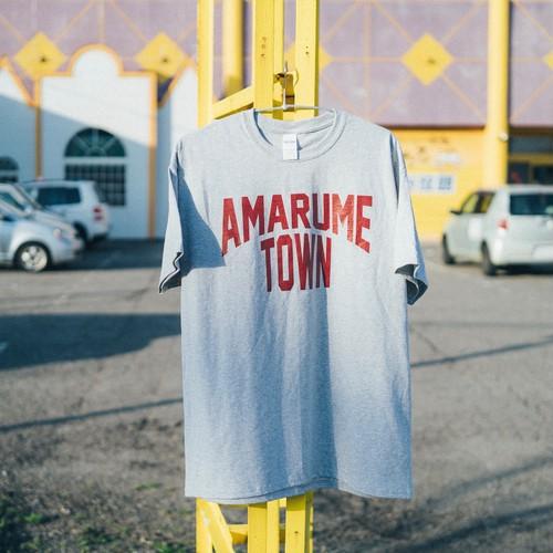 復刻 AMARUME TOWN Tee GRAY×BURGUNDY
