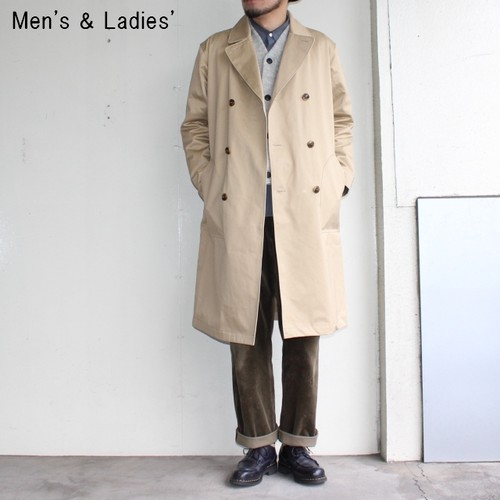 UpscapeAudience ベンタイルロングトレンチコート AUD2848 (BEIGE)