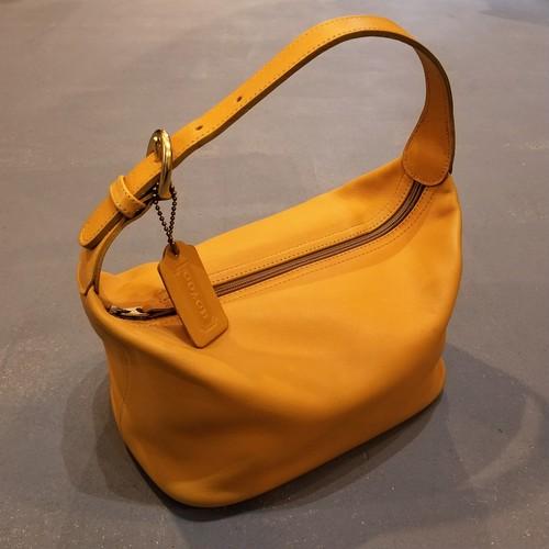 Old COACH  Box hand bag /Made In USA [B-310]