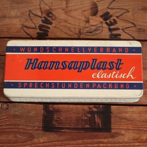 ドイツ ヴィンテージ Hansaplast絆創膏の缶/救急箱 24cm