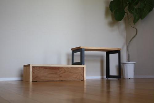 違い棚TVボード / TV台 コーナー使いにも最適