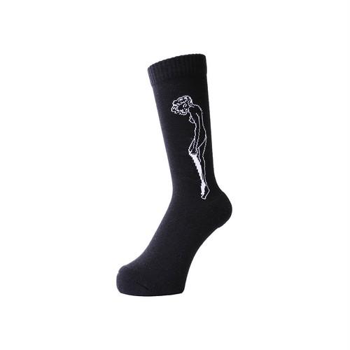 WHIMSY - 32/1 CATHIE SOCKS (Black)