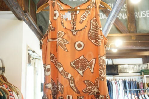 90's Saks printed silk sleeveless Dress