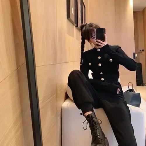 BALゴールドボタンカーディガン カーディガン 韓国ファッション