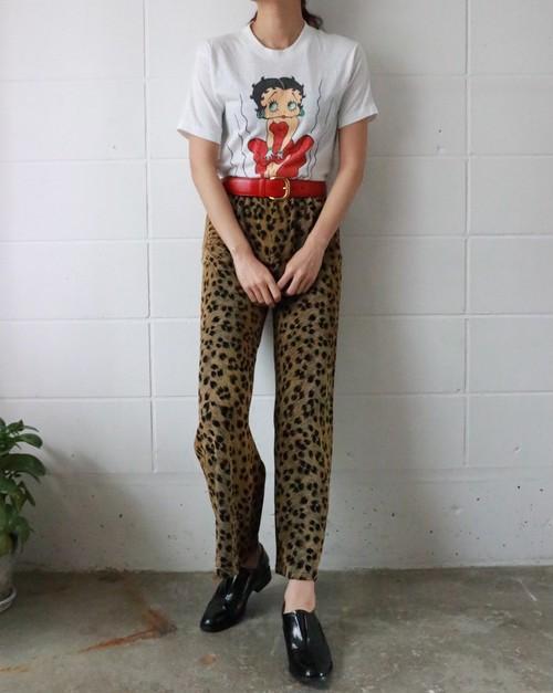 leopard easy pants