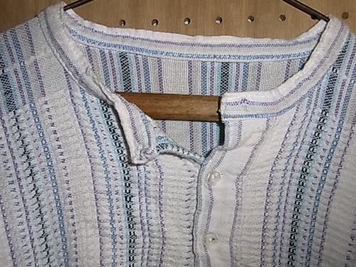ストライプ リネンL/Sシャツ