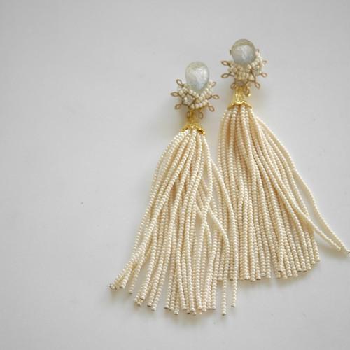 【flua bridal】2way ブライダルアクセサリー ヴィンテージ   ピアス イヤリング