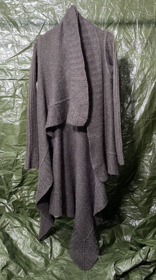 2000s RICK OWENS ASYMMETRIC KNIT COAT
