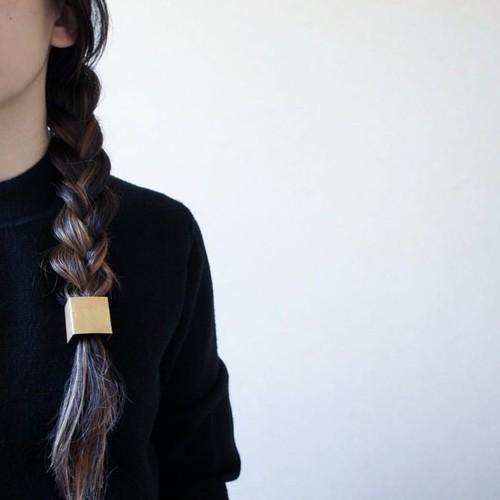 coeurya 四角い髪留め 三つ編み用
