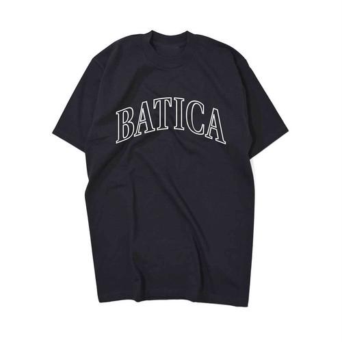 BATICA COLLEGE LOGO T-SHIRT BLACK × WHITE