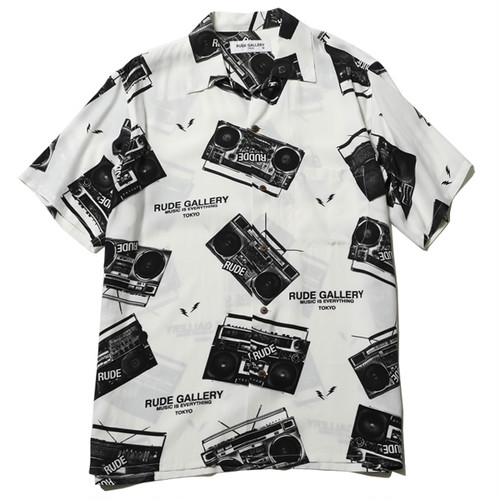 RADIO ALOHA SHIRT (WHITE) / RUDE GALLERY