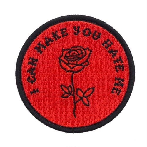 "Pretty Bad Co""I Can Make You Hate Me Red Patch"""