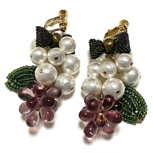 fruits earrings/pierce (grape)