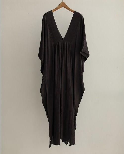 TODAYFUL Pintuck Caftan Dress 12010312 チャコールグレー