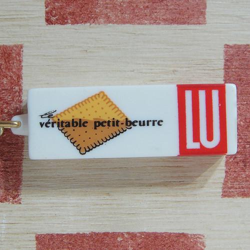 フランス LU[リュ]お菓子メーカー ビスケットパッケージ型 キーホルダー