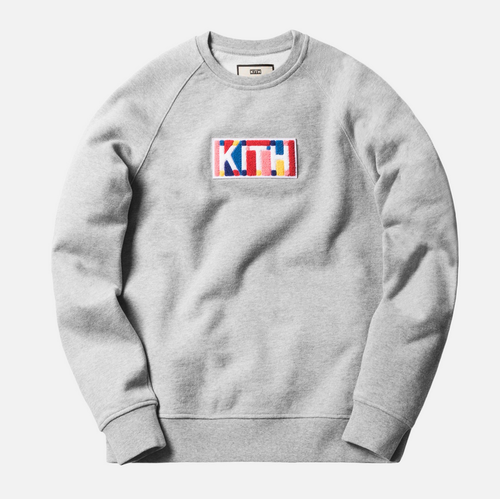 Kith Geo Color Chenille Box Logo Crew Neck Sweat