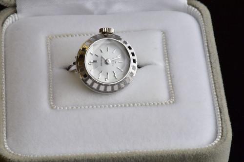 【ビンテージ時計】1971年7月製造 セイコー指輪時計 日本製 当時の定番モデル シルバーカラー