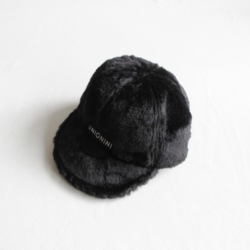 《UNIONINI 2020AW》fur cap / black