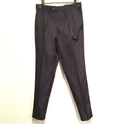 【votole】SILK/COTTON JACQUARD 2TUCK TROUSERS